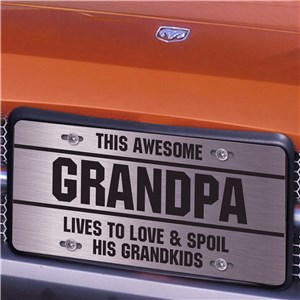Personalized Live To Love And Spoil License Plate