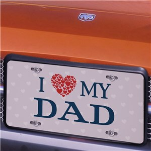 Personalized We Heart Our License Plate