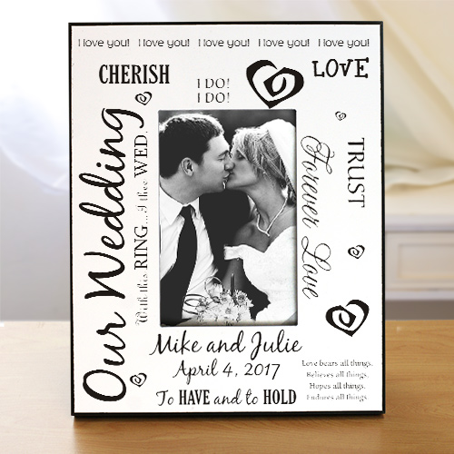 Our Wedding Printed Frame | Personalized Picture Frames