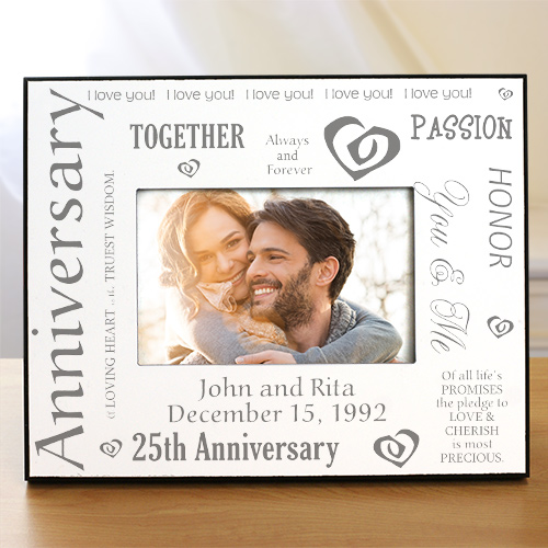 Our Silver Anniversary Printed Frame | Personalized Picture Frames