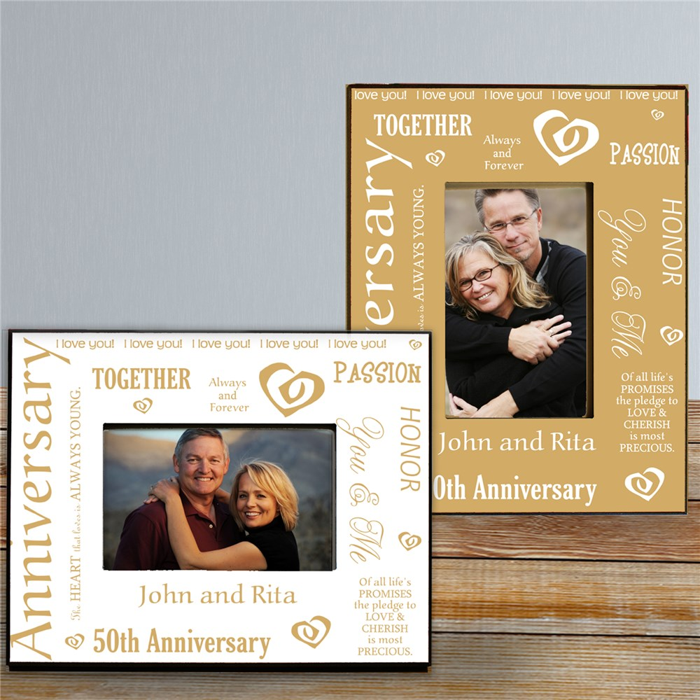 Our Golden Anniversary Printed Frame | Personalized Picture Frames