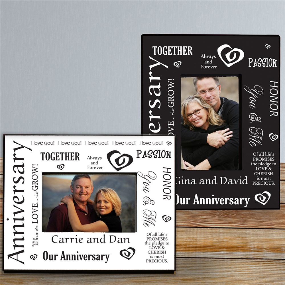 Our Anniversary Printed Frame | Personalized Picture Frames