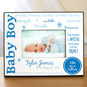 Personalized New Baby Picture Frame | Personalized Baby Picture Frames