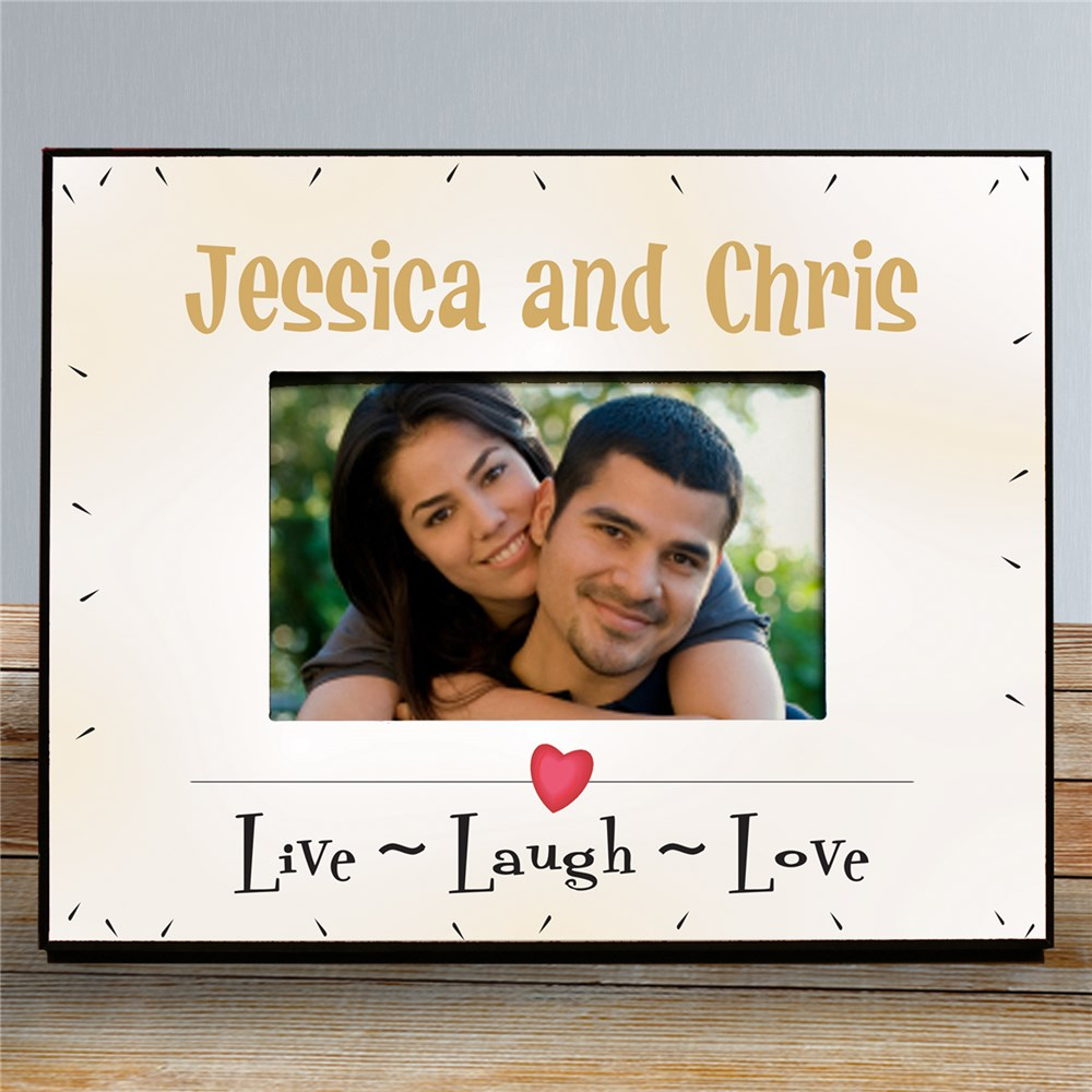 Personalized Live Laugh Love Printed Frame | Personalized Picture Frames