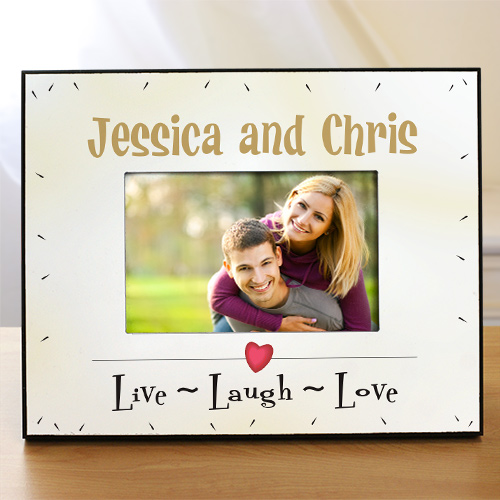 Personalized Live Laugh Love Printed Frame 420530