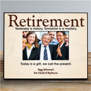 Personalized Retirement Picture Frame | Personalized Picture Frames