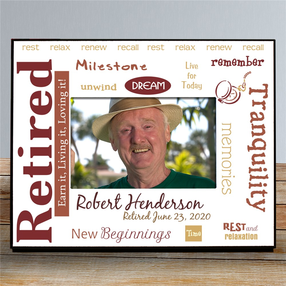 Custom Printed Retirement Picture Frame | Personalized Picture Frames