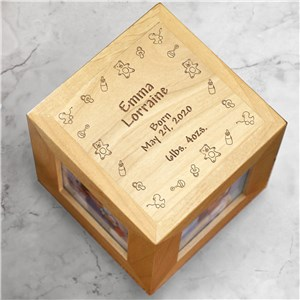 Baby Toys Baby Personalized Photo Cube | Personalized Baby Gifts