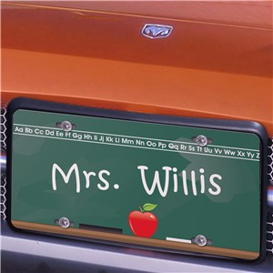 Chalkboard Teacher License Plate | Personalized Teacher Gifts