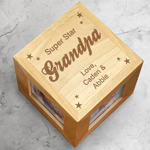 Super Star Grandpa Photo Cube | Personalized Grandpa Gifts