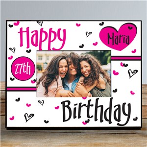 Happy Birthday Personalized Printed Frame 429400