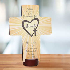 Unique First Communion Wall Cross