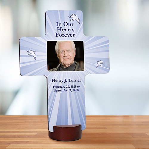 Personalized Memorial Photo Wall Cross | Memorial Gifts