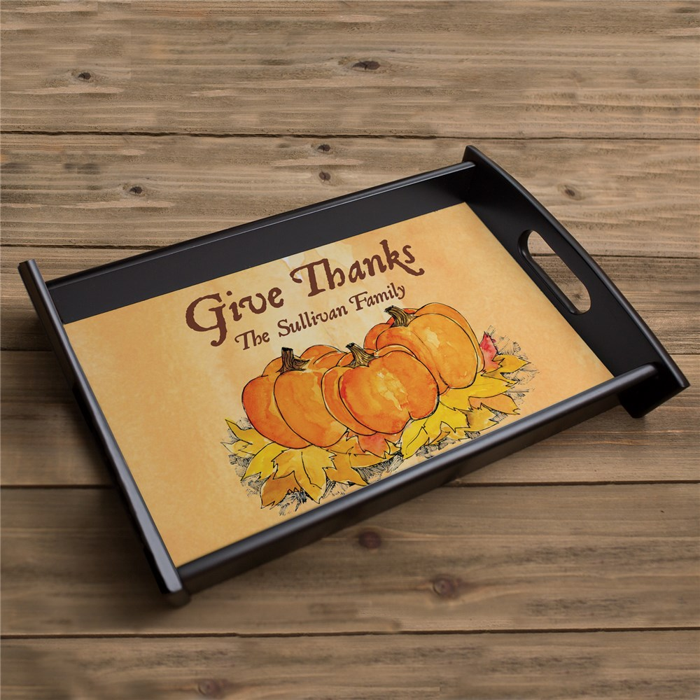 Give Thanks Personalized Serving Tray 43069ST