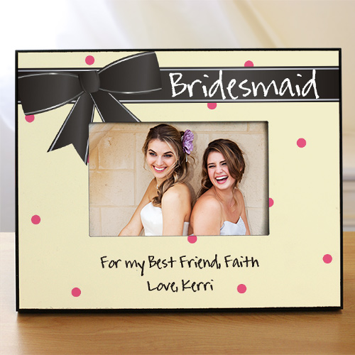 Bridesmaid Printed Picture Frame | Personalized Picture Frames