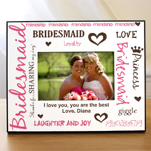 Personalized Bridesmaid Printed Picture Frame | Personalized Picture Frames