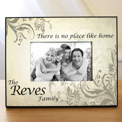 No Place Like Home Personalized Printed Frame 436990