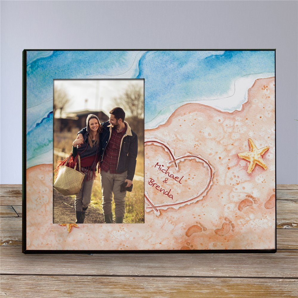 Personalized Shores Of Love Printed Frame | Personalized Picture Frames