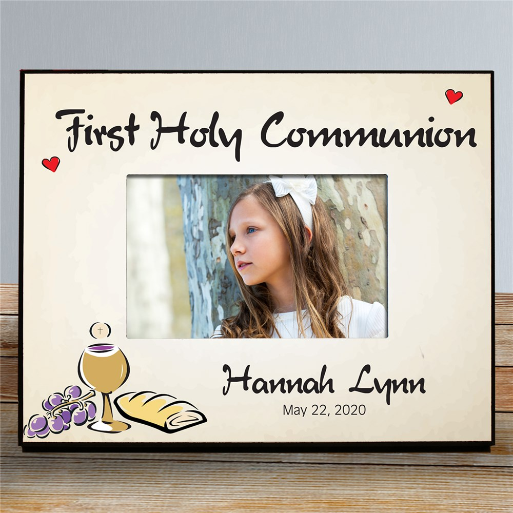 Personalized First Holy Communion Printed Picture Frame | Personalized Picture Frames