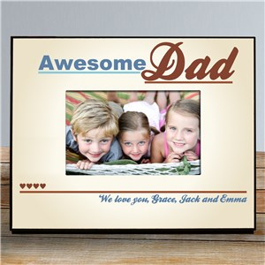 Personalized Awesome Dad Printed Picture Frame | Dad Picture Frames