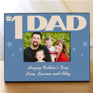 Personalized Number One Parent Printed Picture Frame | Daddy Picture Frames