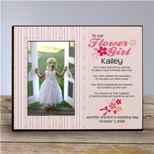 To Our Flower Girl Personalized Printed Frame | Personalized Picture Frames