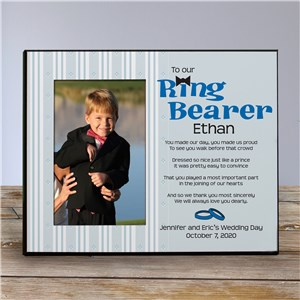 To Our Ring Bearer Personalized Printed Frame | Personalized Picture Frames
