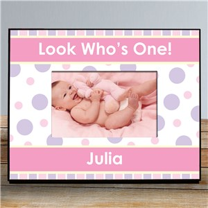 Personalized 1st Birthday Printed Picture Frame | Personalized Picture Frames