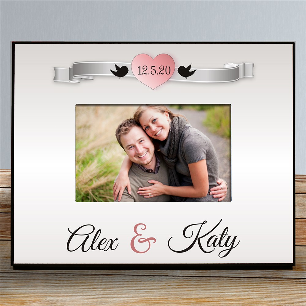 Personalized Love Birds Printed Frame | Personalized Picture Frames