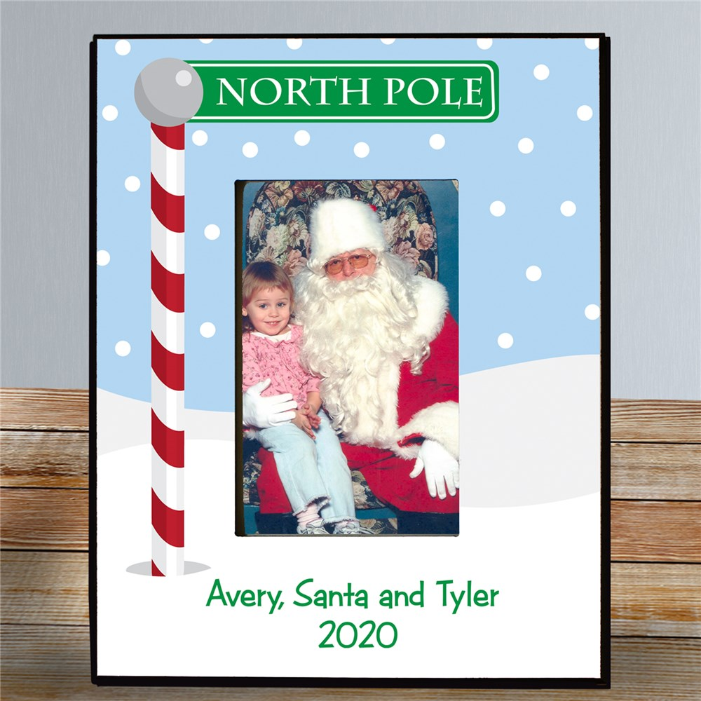 Visit With Santa Printed Frame | Personalized Picture Frames