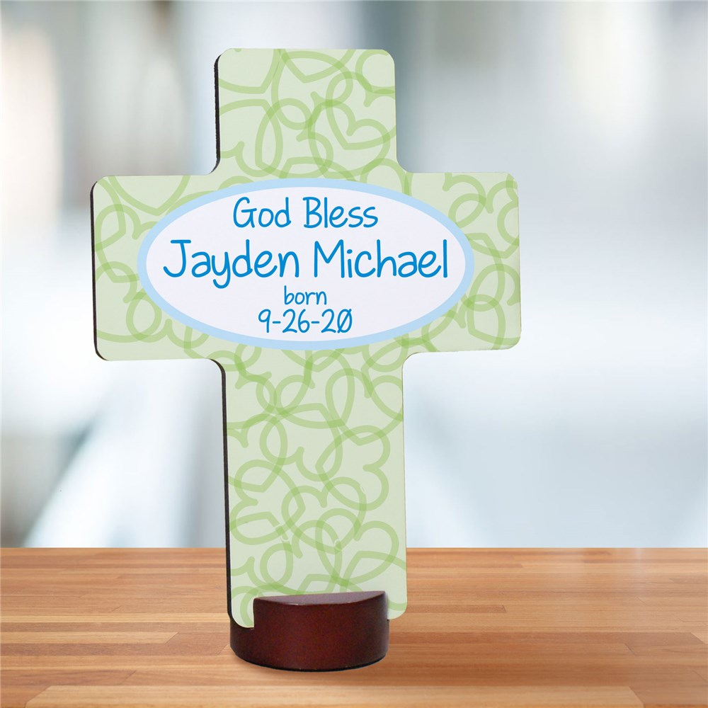 Personalized God Bless Cross | Baby Christening Gifts