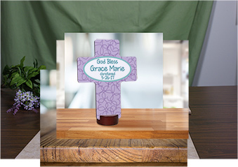 Personalized God Bless Cross