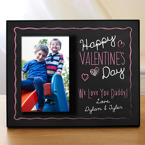 Personalized Happy Valentine's Day Printed Frame | Personalized Valentine's Day Picture Frames