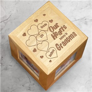 Our Hearts Belong To Photo Cube | Personalized Photo Cube
