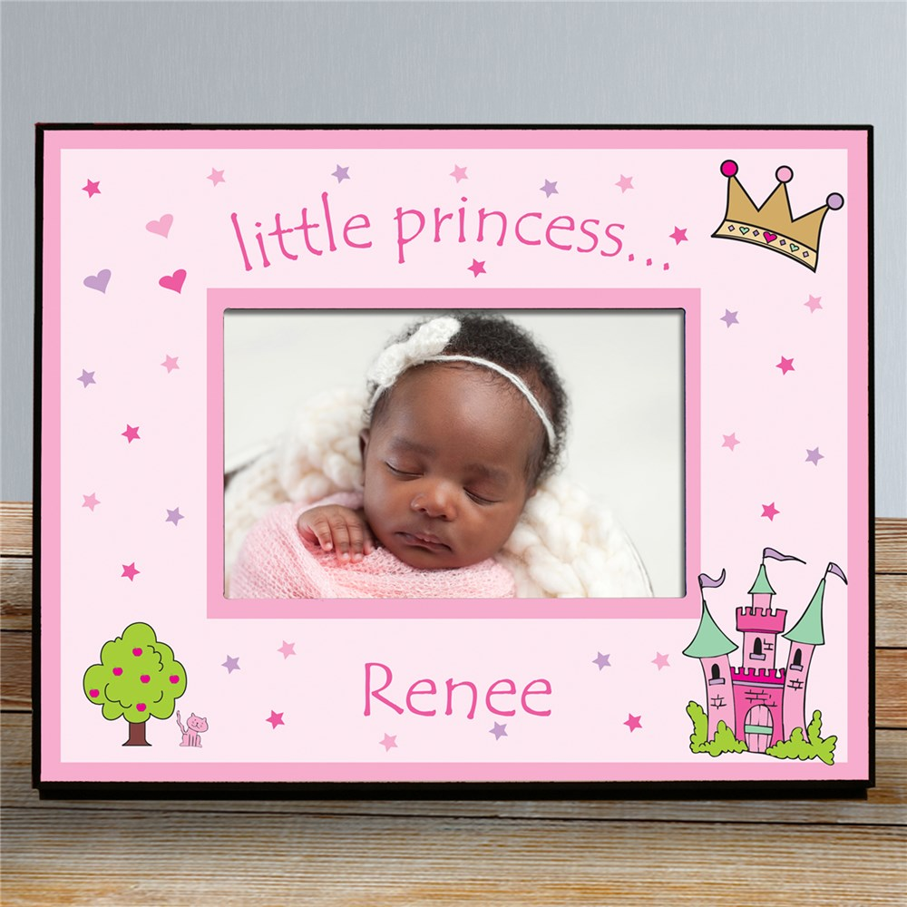 Custom Printed Little Princess Picture Frame | Personalized Baby Picture Frames