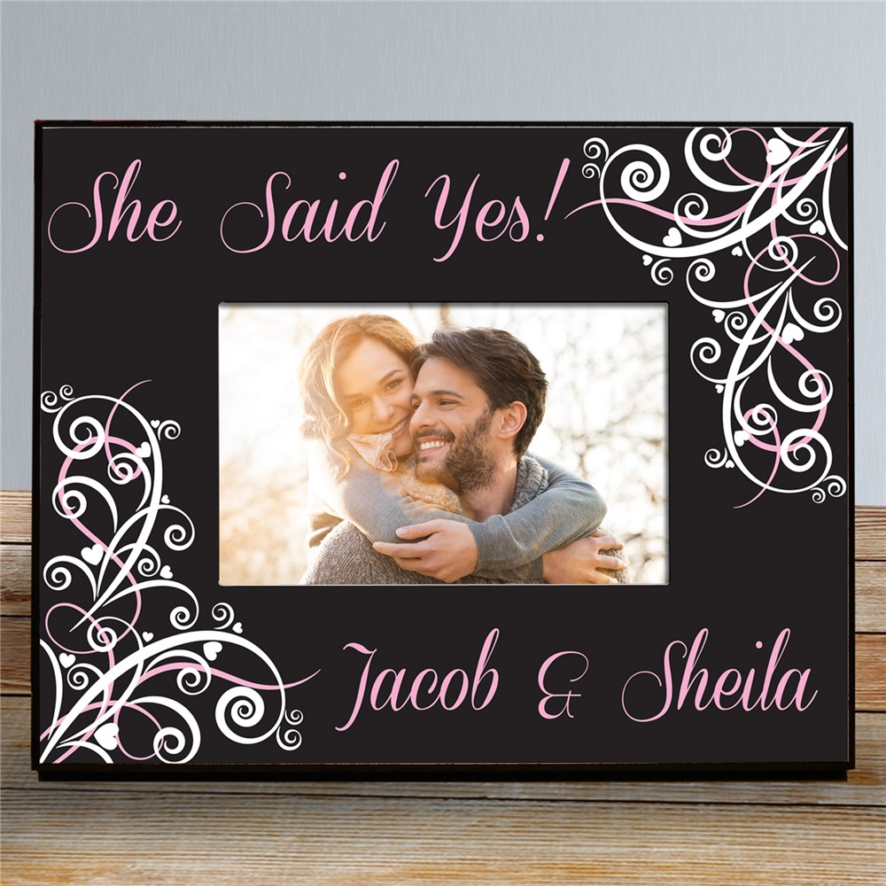 Personalized Wedding Collection Printed Frame | Personalized Picture Frames