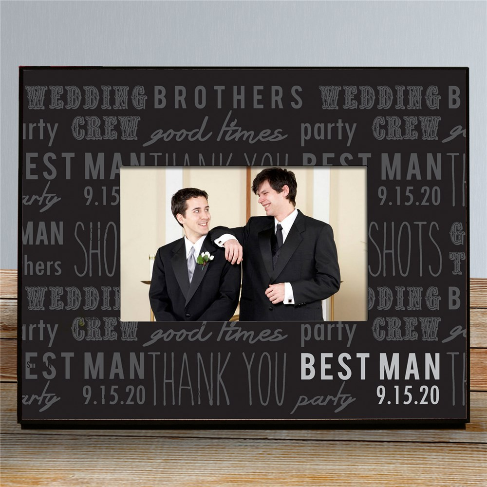 Personalized Wedding Party Printed Frame | Personalized Picture Frames