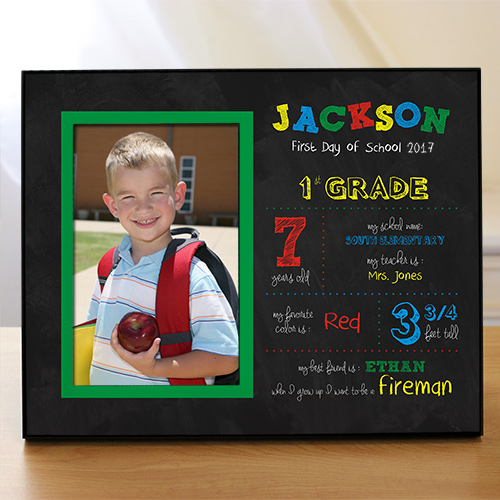 Personalized His First Day of School Frame | School Picture Frames