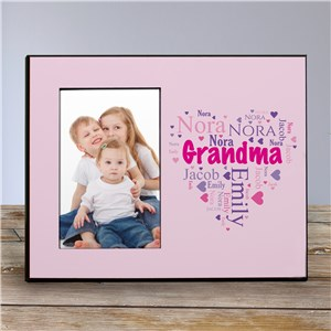 Personalized Grandma's Heart Word-Art Printed Frame | Personalized Gifts For Grandma