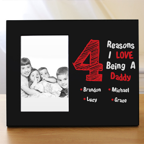 Personalized I Love My Children Printed Frame | Dad Picture Frames