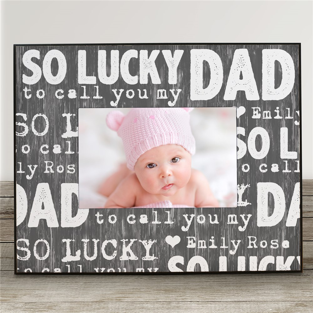Dad Personalized Picture Frame | Personalized Father's Day Presents
