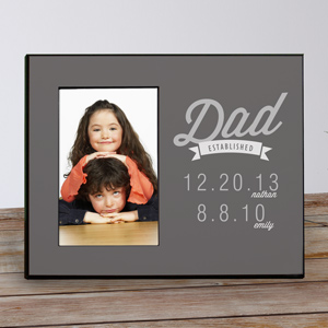 Personalized Dad Established Printed Frame
