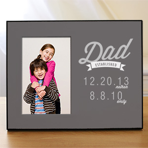 Personalized Dad Established Printed Frame | Father's Day Picture Frames