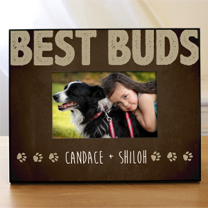 Personalized Best Buds Pet Printed Frame | Personalized Picture Frames