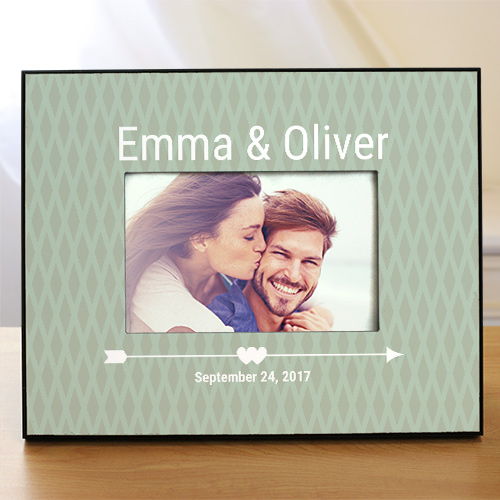 Personalized Cupid's Arrow Couples Frame | Personalized Photo Frames For Couples