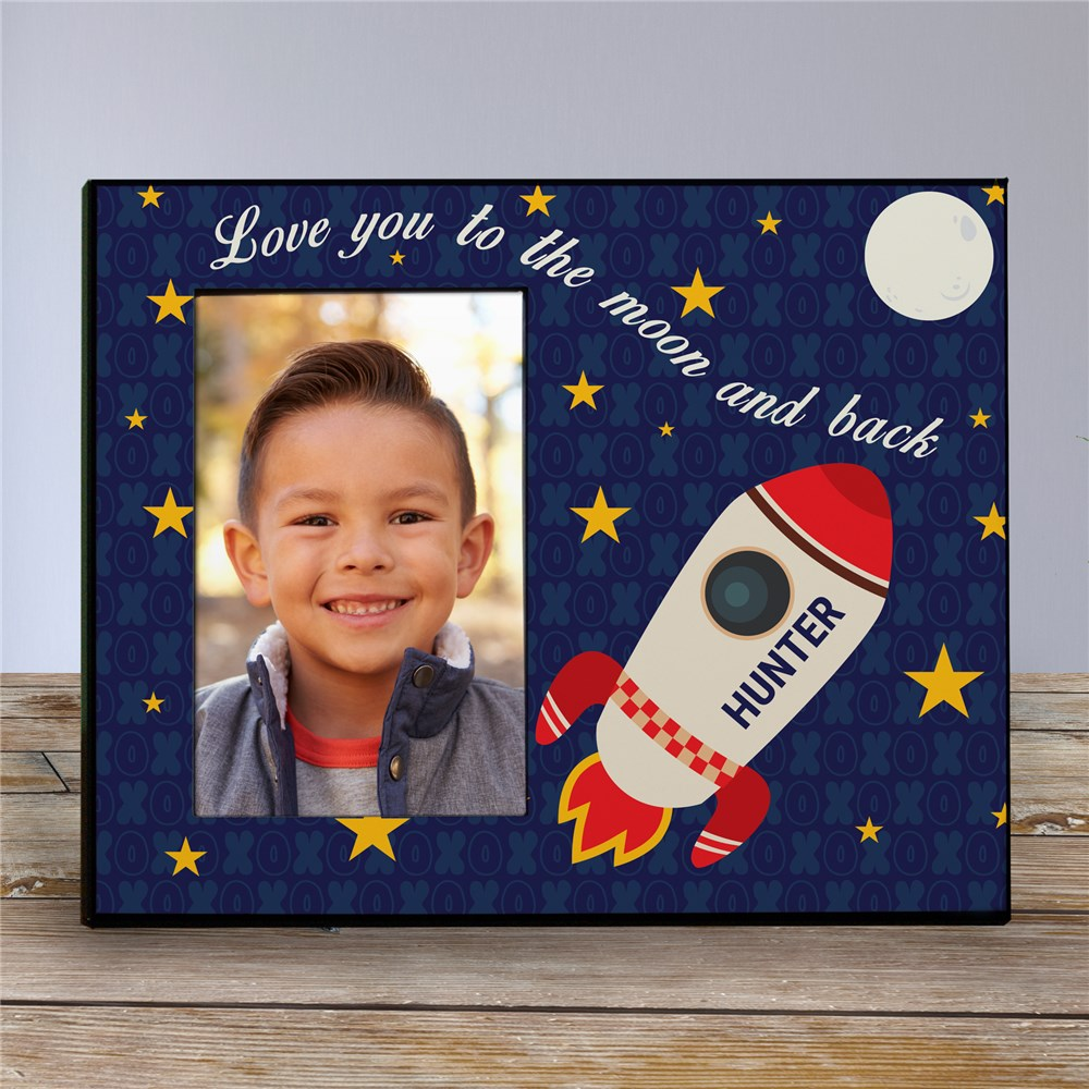 Personalized Love You To the Moon and Back Kids Photo Frame | Baby Picture Frames