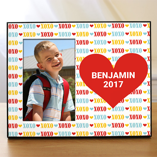 Personalized Red Heart Kids Photo Frame 499966