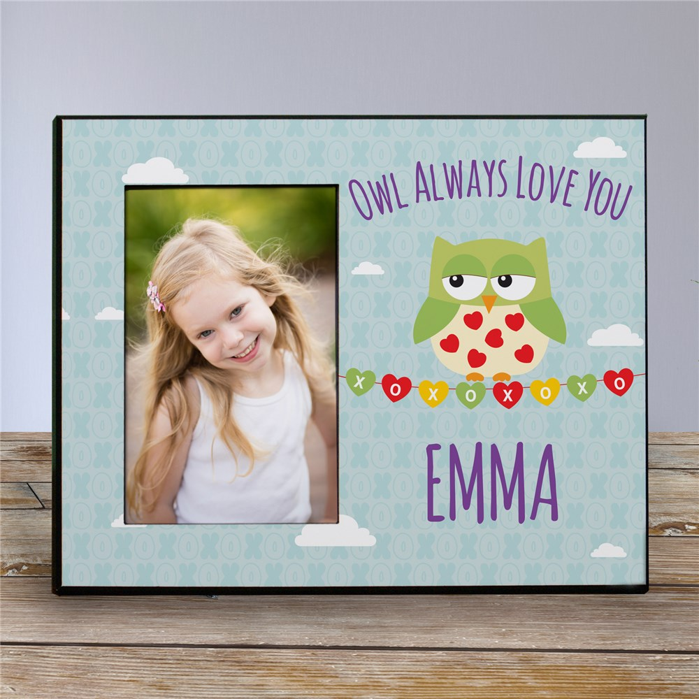 Personalized Owl Always Love You Kids Photo Frame | Valentines Day Gifts For Kids