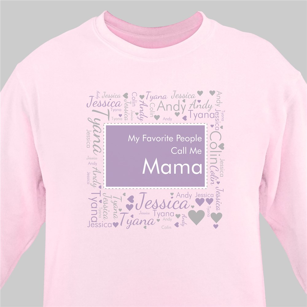 Grandma's Heart Word Art T-Shirt | Personalized Shirts For Grandma