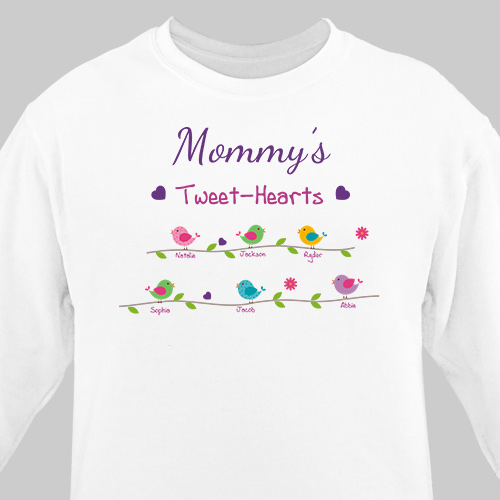 Personalized Tweet-Hearts Sweatshirt | Mom Shirts